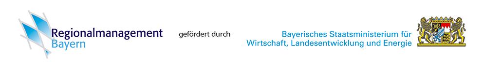 Logoleiste des Regionalmanagements Bayern gefördert durch das Bayerische Staatsministerium für Wirtschaft, Landesentwicklung und Energie