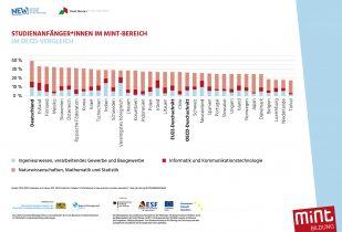 Studienanfänger*innen im MINT-Bereich  im OECD-Vergleich
